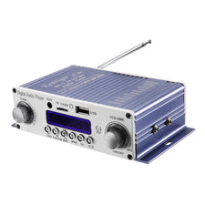 HY - 603 HiFi 12V Car Stereo Power Amplifiers 4 Channels Digital Audio Amplifier with IR Control FM MP3 USB Playback