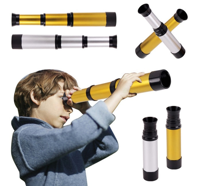 Kids Toy Pirate Telescope Monocular Telescopic Magnifying Glass Classic Toys For Children 2+