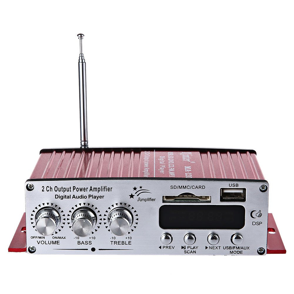Ma 120 12v 50w Hifi Audio Amplifier 220w Stereo Circuit Design Fm Remote Control Using A Radio Electronic Music Playing Support Sd Usb Aux Input