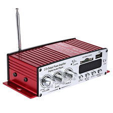 MA - 120 12V HiFi Audio Amplifier Support FM SD USB Input 2 x 20W Stereo Circuit Design Supports FM SD Card Music Playing