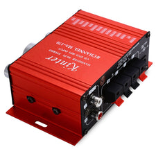 MA - 170 Mini 12V 20W HiFi Stereo Audio Car Power Amplifier Booster DVD MP3 Speaker Support LED Shinning Volume Control