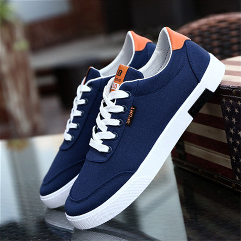 Costbuys  Spring and autumn breathable non-slip sneakers men's fashion low shoes men's casual sports flat shoes - Blue / 10