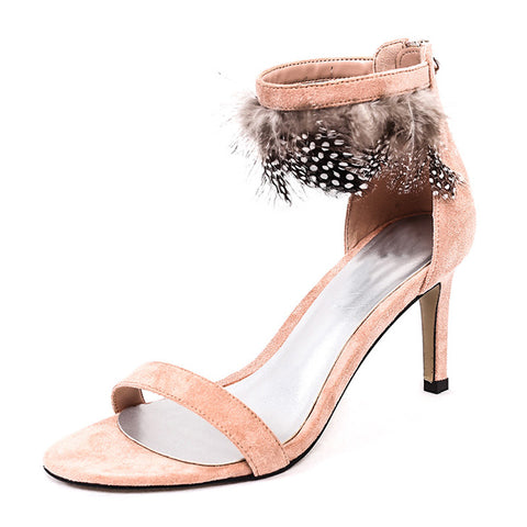 New Summer Pep-toe Woman Sandals,Platform Thick Heel Summer Women Shoes Hook & Loop Fashion All Match Shoes For Ladies