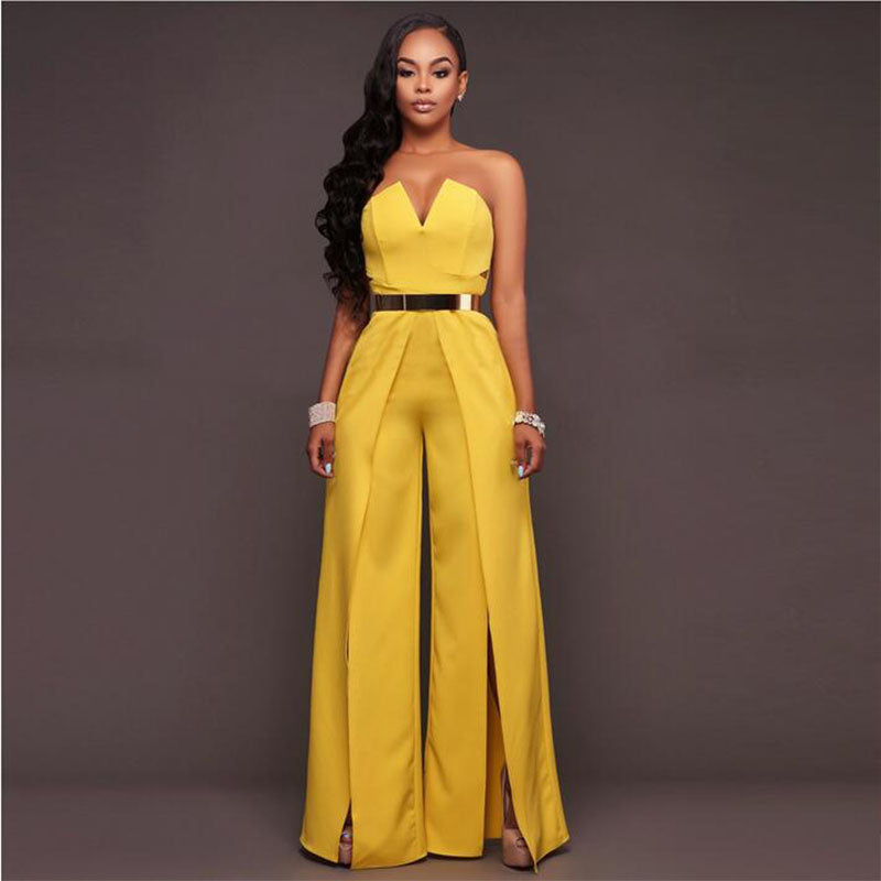 84852a3018 Off the Shoulder Elegant Jumpsuits Without Belt Women Plus Size Rompers  Women Jumpsuits Short Sleeve Female