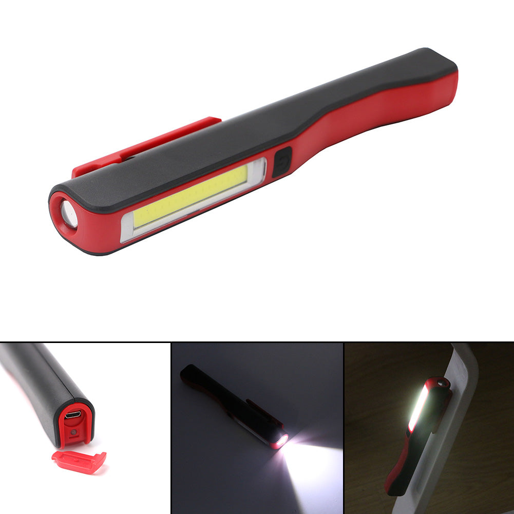 Costbuys  LED COB Work Light Rechargeable USB Charging Inspection Lamp Pen Pocket Light Clip Work Torch Flashlight Built-in 1450