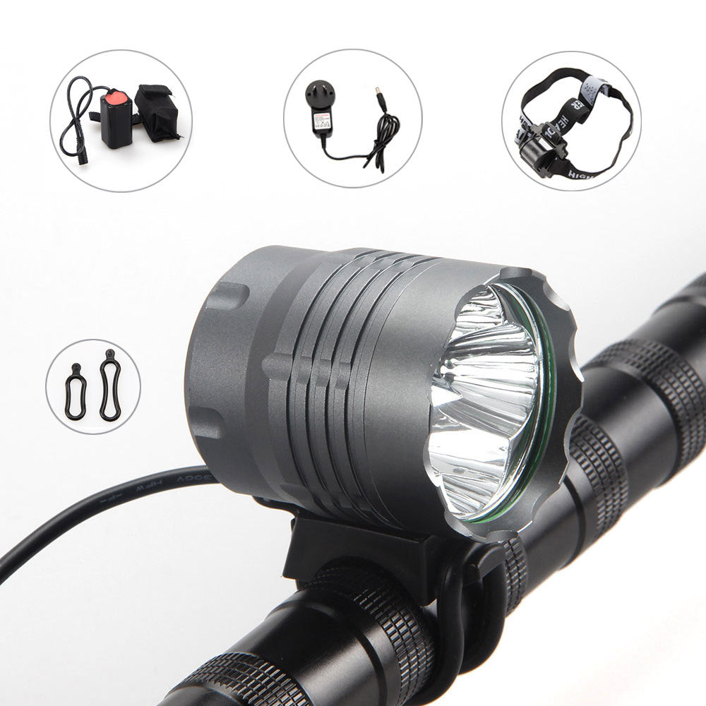 Costbuys  LED Cycling Light 2000Lm 4x XM-L U2 Front Bicycle Flashlight Lantern Lamp Accessories For Bike With 8.4v 12000mAh Batt