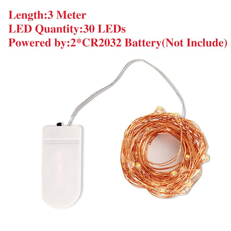 Costbuys  LED Fairy Light 1/2/3/5/10M String Light Battery Powered Garland Copper Wire for Indoor Outdoor Christmas Lights Decor