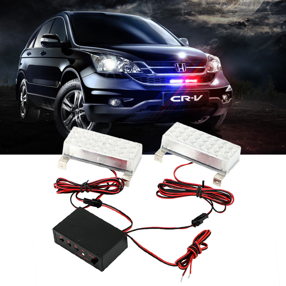 Costbuys  LED Strobe Light Car-Styling Multi-function Flash Light Car Accessories Flashlight External Lights Signal Lamp Warning