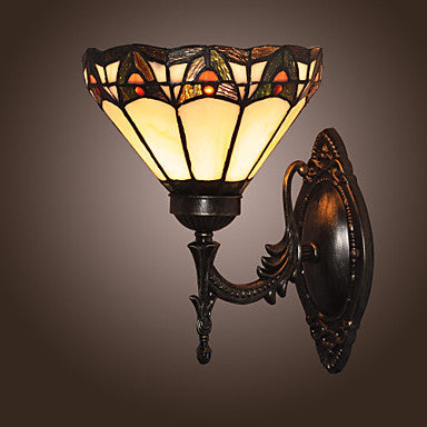 Costbuys  LED Wall Lamps Tiffany Stytle Vintage LED Lights Wall Sconce with Stained Glass for Home Indoor Hallway Porch Lighting