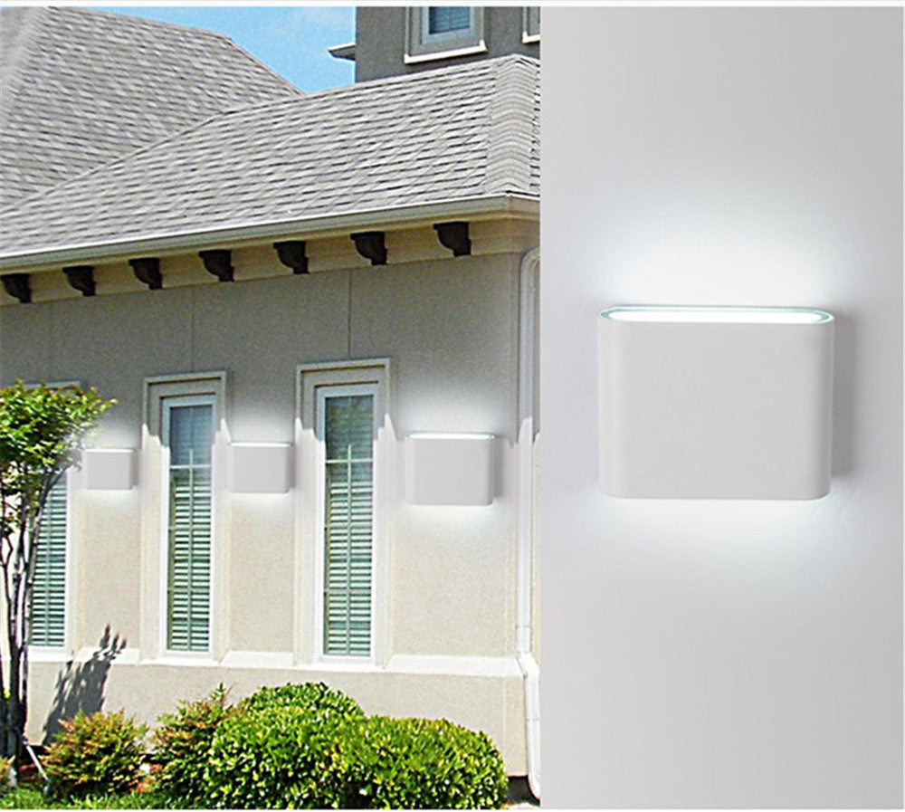 Costbuys  LED Wall light Lamp Waterproof 6W 12W COB Led Sconces Modern Home Lighting Indoor Outdoor Decoration lighting AC85-265