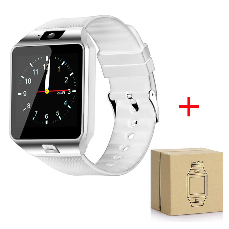 Costbuys  Bluetooth Smartwatch DZ09 Digital Wrist with Men Women SIM Card Sport dz09 Battery Smart Watch For Android IOS Phone -