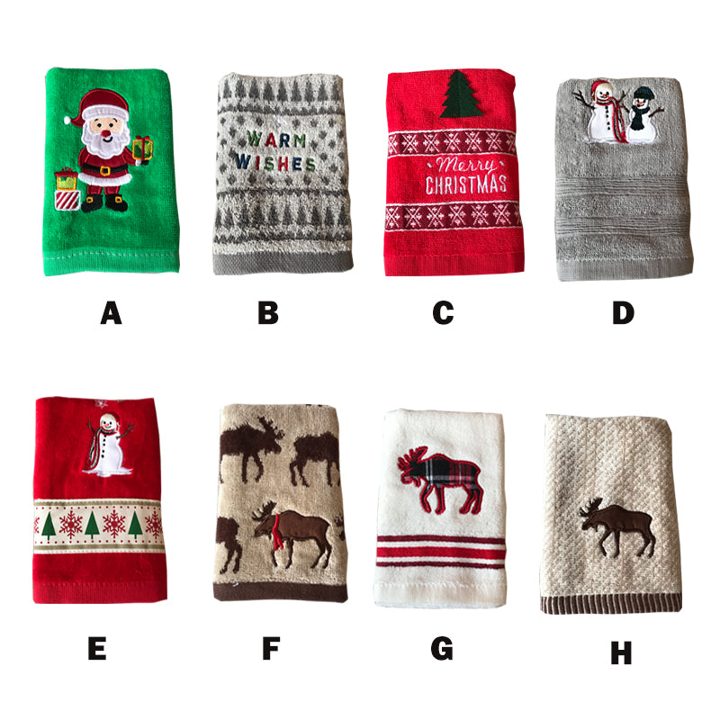 Red Towels Bathroom: Red Christmas Bathroom Hand Towels Holiday Cheer Happy