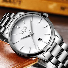 Mens Watches New men Fashion sport Waterproof quartz-Wristwatch Male stainless steel ultra thin clock Relojes hombres