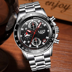 Fashion Mens Watches Top Luxury Quartz Clock Sport Watch Men Full Steel Business Waterproof Watch Relogio Masculino