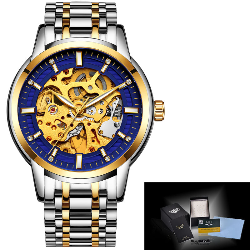 Costbuys  Luxury Brand stainless steel Automatic mechanical Sport Watch Men Casual Watches Male Wristwatch Clock Relogio masculi