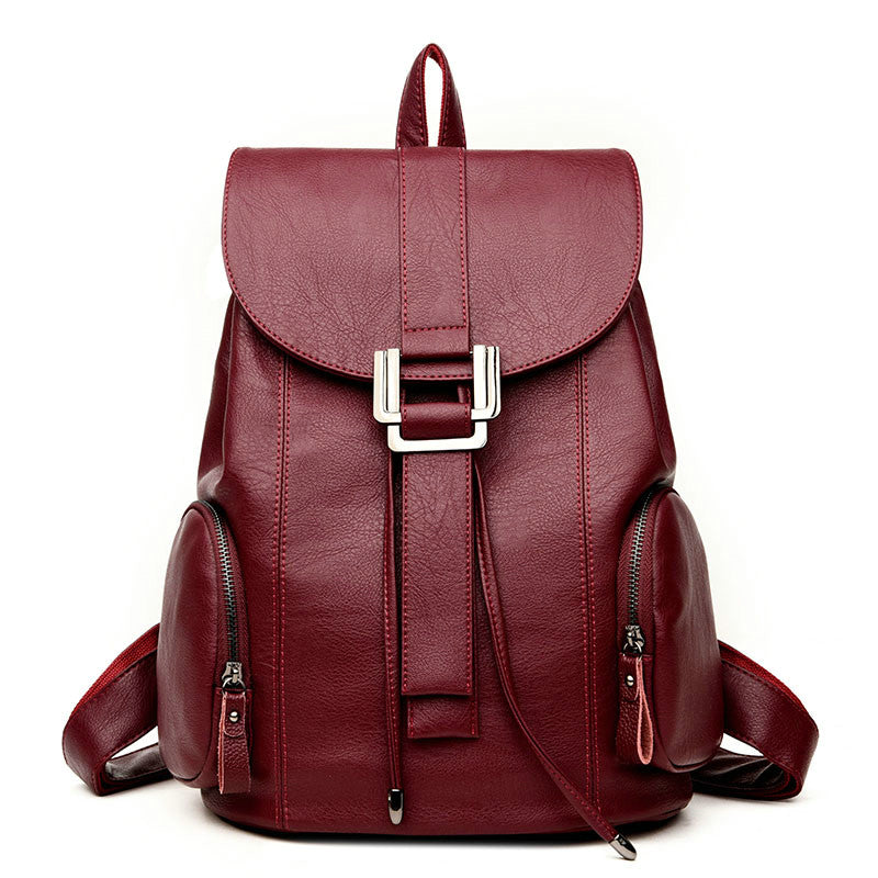 Costbuys  Fashion Leather Backpack Women Fashion School Bags For Teenagers Girl Laptop Travel Hand Backpack Leisure High Quality