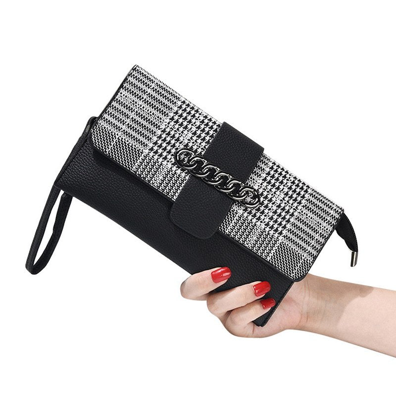 Costbuys  New Fashion Women Wallets And Purses Long Clutch PU Wallet High Quality Fashion Wallet Female Coin Purse Phone Bags -