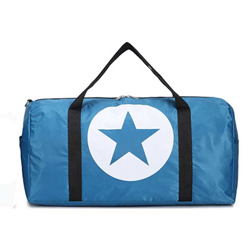 Costbuys  Large Capacity Five-Pointed Star Women Men Duffel Bag Multifunction Portable Sports Travel Gym Fitness Bag - blue larg