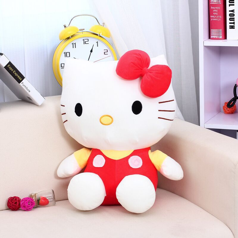 Costbuys  Large Size Hello Kitty Stuffed Toys High Quality Plush Toys Hello Kitty Doll For Girls Polka Dot Child Gift 3Colors -