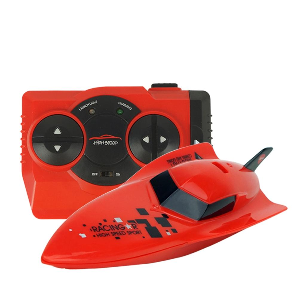 Costbuys  2.4G Remote Control Speed Boat Toy Waterproof Mini RC Racing Boats Gift for Kids - A