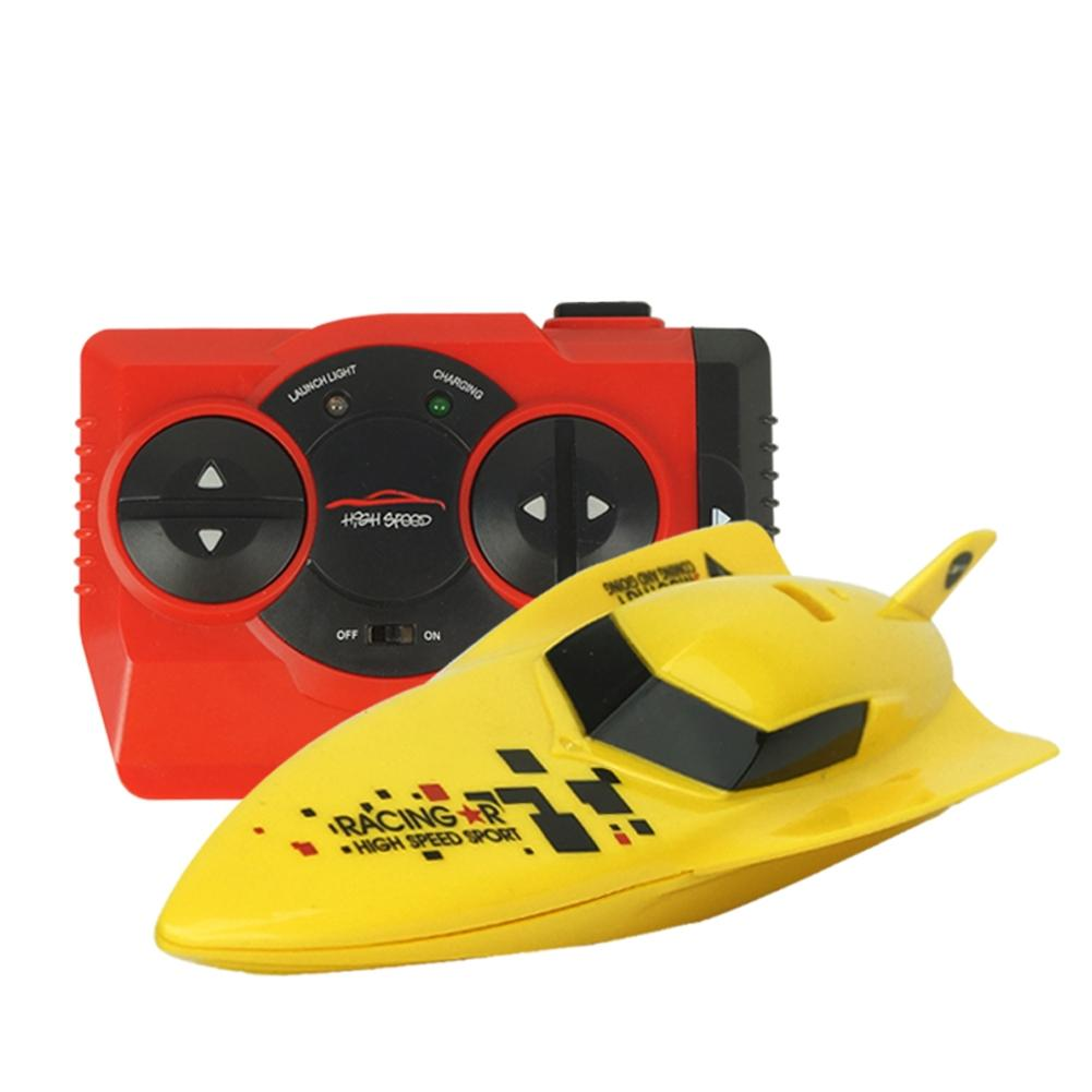 Costbuys  2.4G Remote Control Speed Boat Toy Waterproof Mini RC Racing Boats Gift for Kids - B