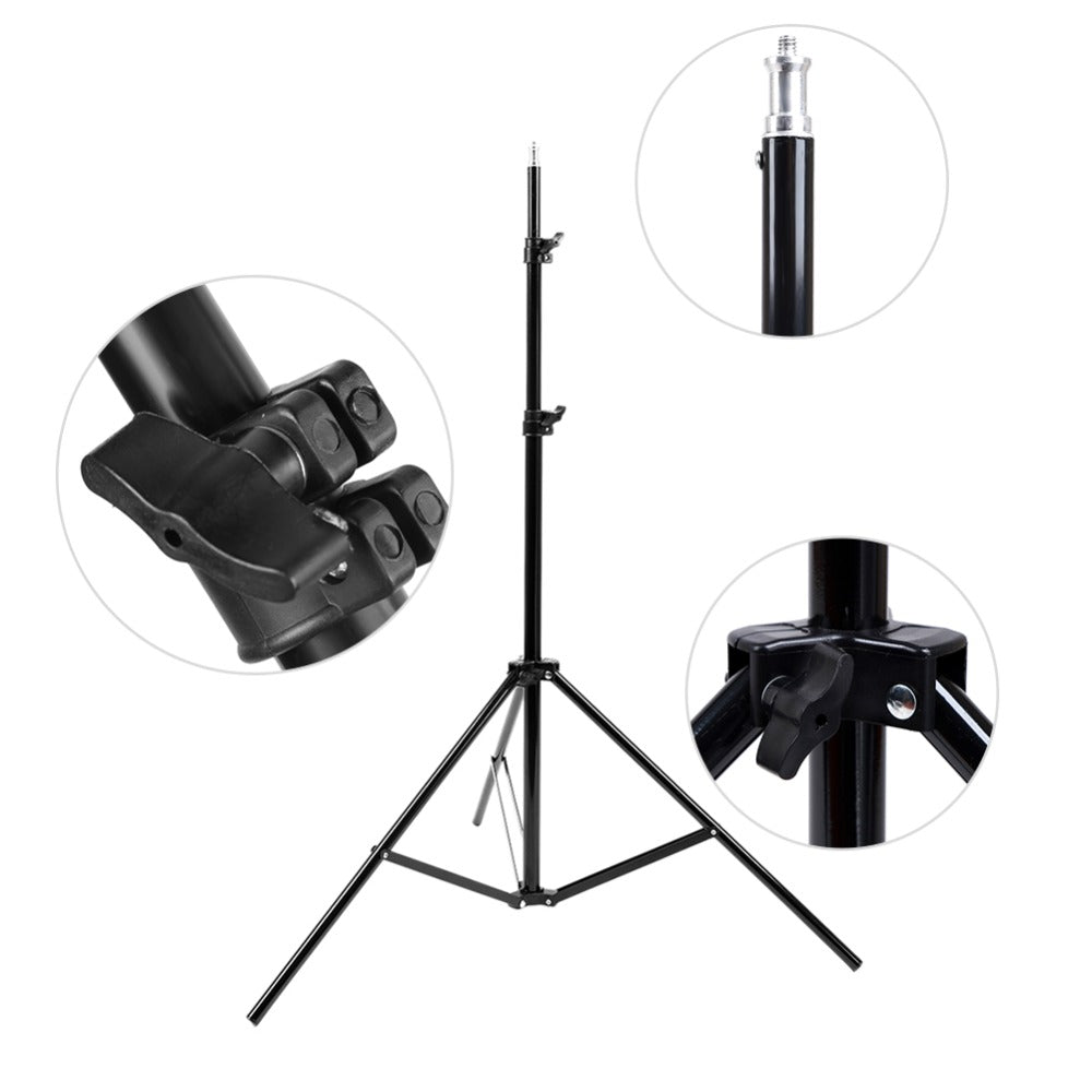Costbuys  Light Stand Studio Photography Light Flash Speedlight Umbrella Stand Holder Bracket Tripod Photo Studio Accessories 1/