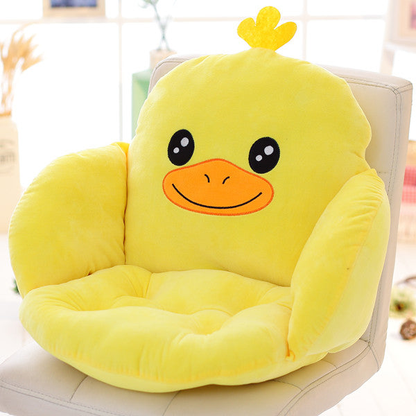Costbuys  Lovely Cartoon Chair Cushion for Home Decor and Office, Thicken Seat Pad Sofa Home Decorative Pillow Car Seat - yazi /