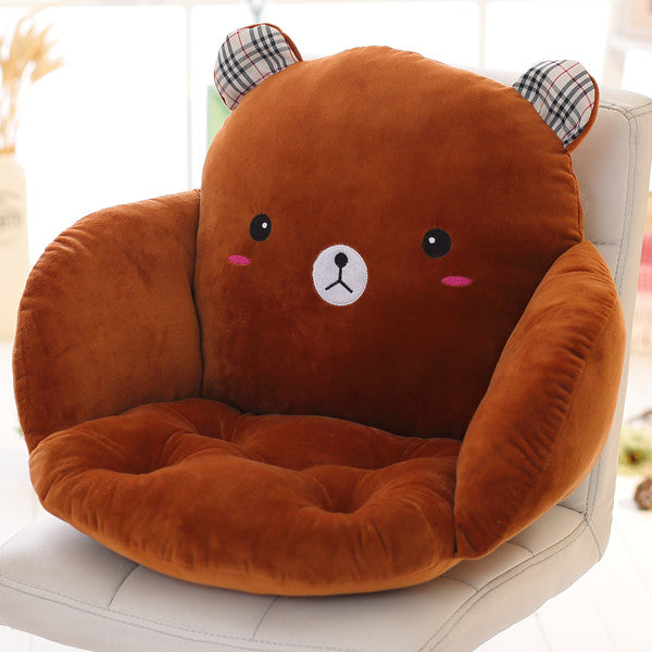 Costbuys  Lovely Cartoon Chair Cushion for Home Decor and Office, Thicken Seat Pad Sofa Home Decorative Pillow Car Seat - zongxi