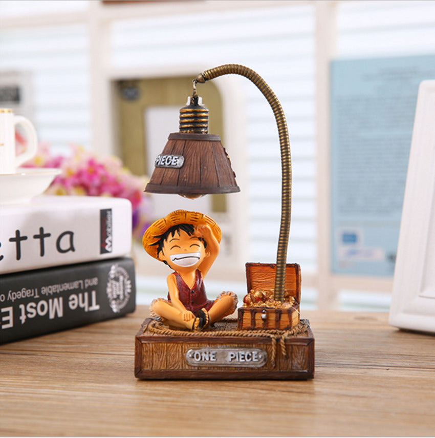 Costbuys  Luffy Lamp LED Night Light ABS Reading Table Desk Lamps Grafts Kids Gift Accessories Choba Miniature Home Decor Resin