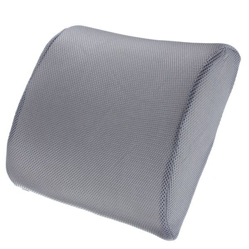 Costbuys  Lumbar Back Chair Pillow Memory Foam Back Ache Pain Cushion Car Seat Office Chair Orthopedic Cushion - grey / See belo