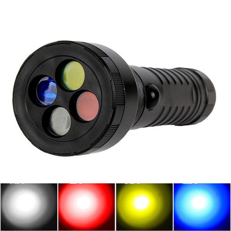 Costbuys  5W Signal Flashlight Outdoor CREE LED 4 Colors Filter Light Torch 3Lighting Modes Aluminum Alloy Emergency