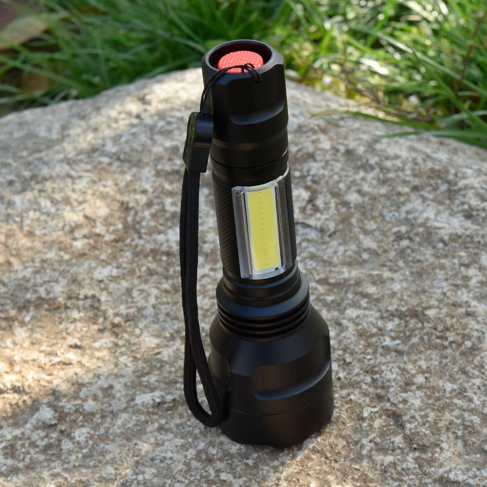 Costbuys  Portable Flashlight T6 + COB Strong Light Torch Work Light Practical Flashlight for Home Outdoor Emergency Use - China