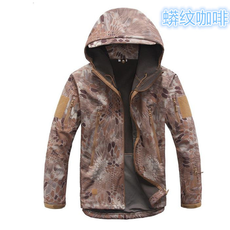 Costbuys  Lurker Shark skin Soft Shell TAD V 4.5 Outdoors Military Tactical Jacket Waterproof Windproof Hike Army Clothing + pan