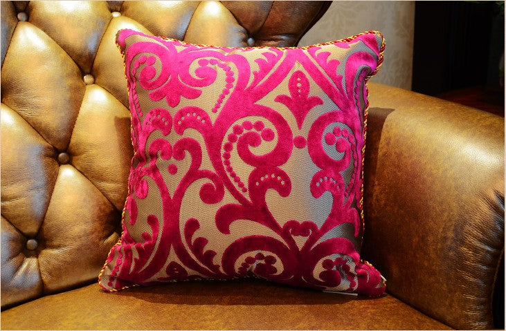 Costbuys  Luxurious Flocking Velvet Pillow Cover Decorative Cushion Cover Home Decor Pillow Decorative Throw Pillows  Pillow Cas