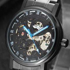 Luxury Brand Automatic Watches Mens Classic Self Wind Skeleton Mechanical Watch Fashion Wrist Watch