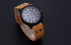 Luxury Digital men's Watch Vintage Classic Mens Waterproof Date Leather Strap Sport Quartz Army Watches