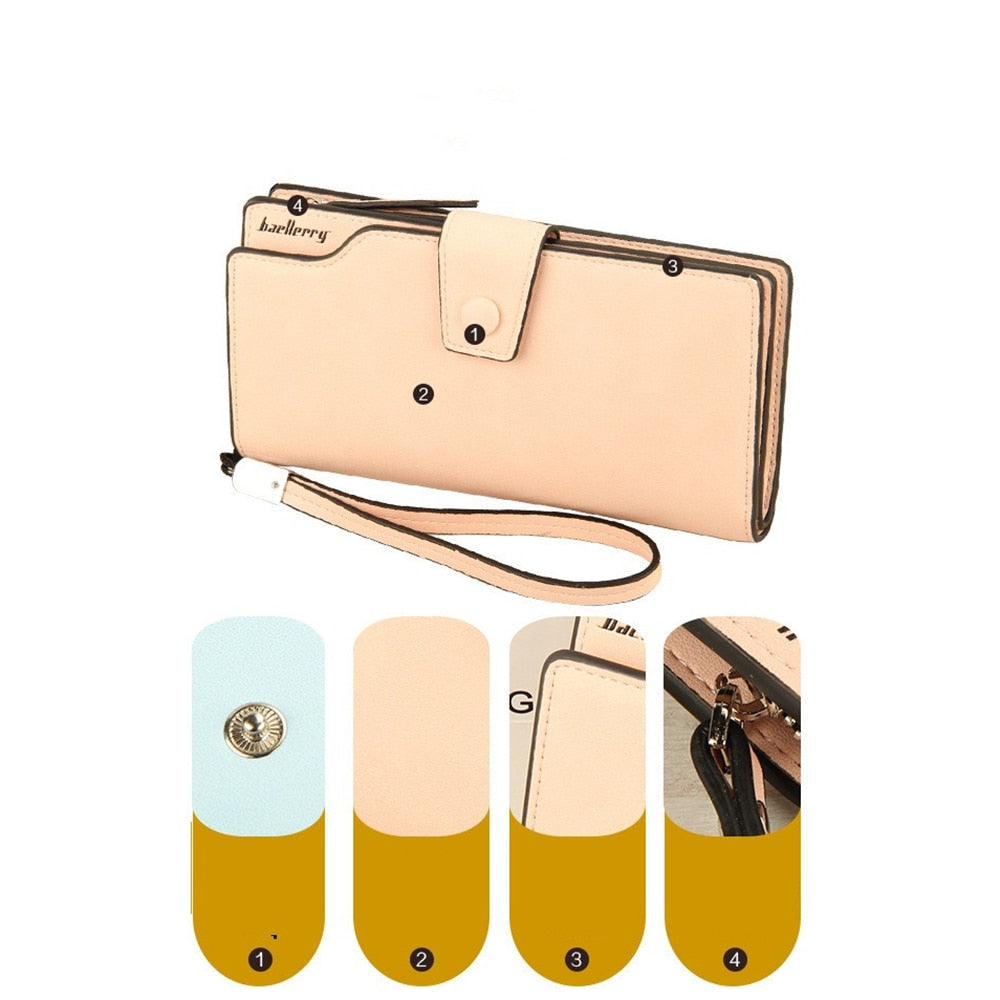 7cfe49741ed Luxury Long Ladies Wallet Women Fashion Female Purse Phone Money Bag ...