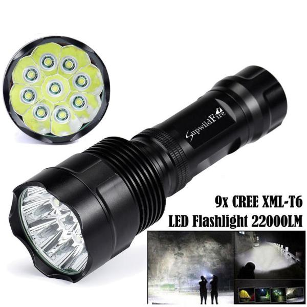 Costbuys  MA 23 Shining LED 9T6,10T6,11T6,12T6,13T6,14T6 Super Bright CREE XM-L T6 LED 5Mode 18650 Flashlight Torch Light Lamp -