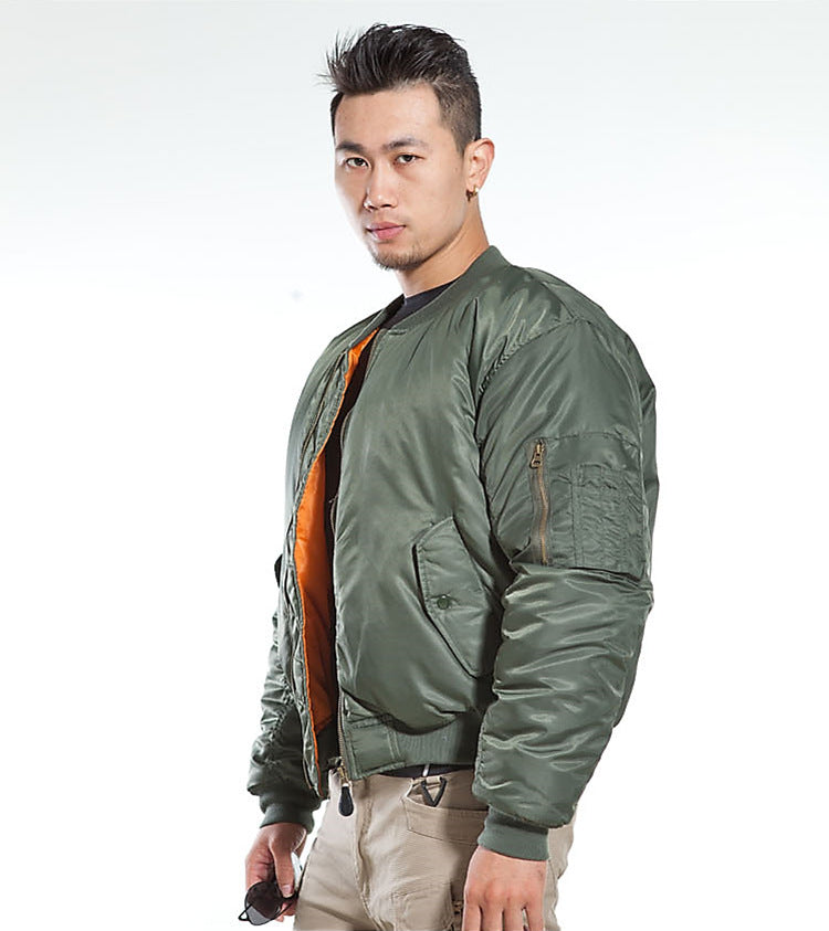 37a6d4491 MA1 Army Air Force Fly Pilot Jacket Military Airborne Flight Tactical  Bomber Jacket Men Winter Warm Aviator Motorcycle Down Coat