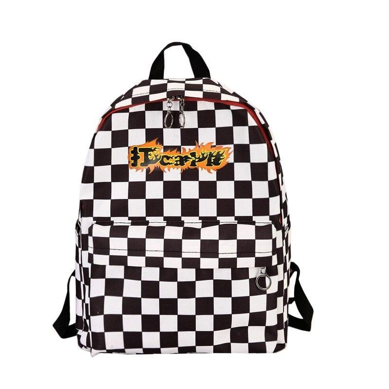 9ee1d08db4e3 Designer New Plaid Backpack Women School Bags for Teenage Girls Cool F –  Costbuys