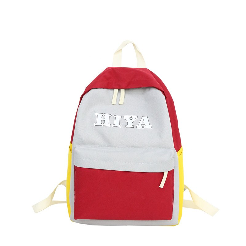 Costbuys  Lovely Stitching Women Backpack Casual Travel Bag For Teenagers Girls Backpack Shoulder School Bags Children - Red / 2