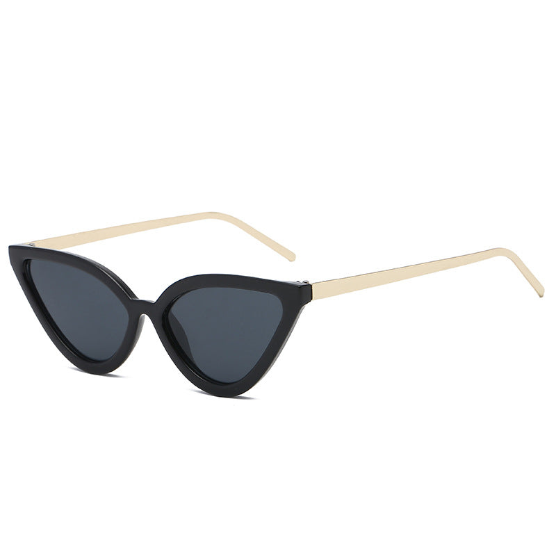 Costbuys  Spring Summer Styles Women Little Cat Sunglasses Fashion Men Transparent UV400 Lens Slim Shades UV400  NX - black gold