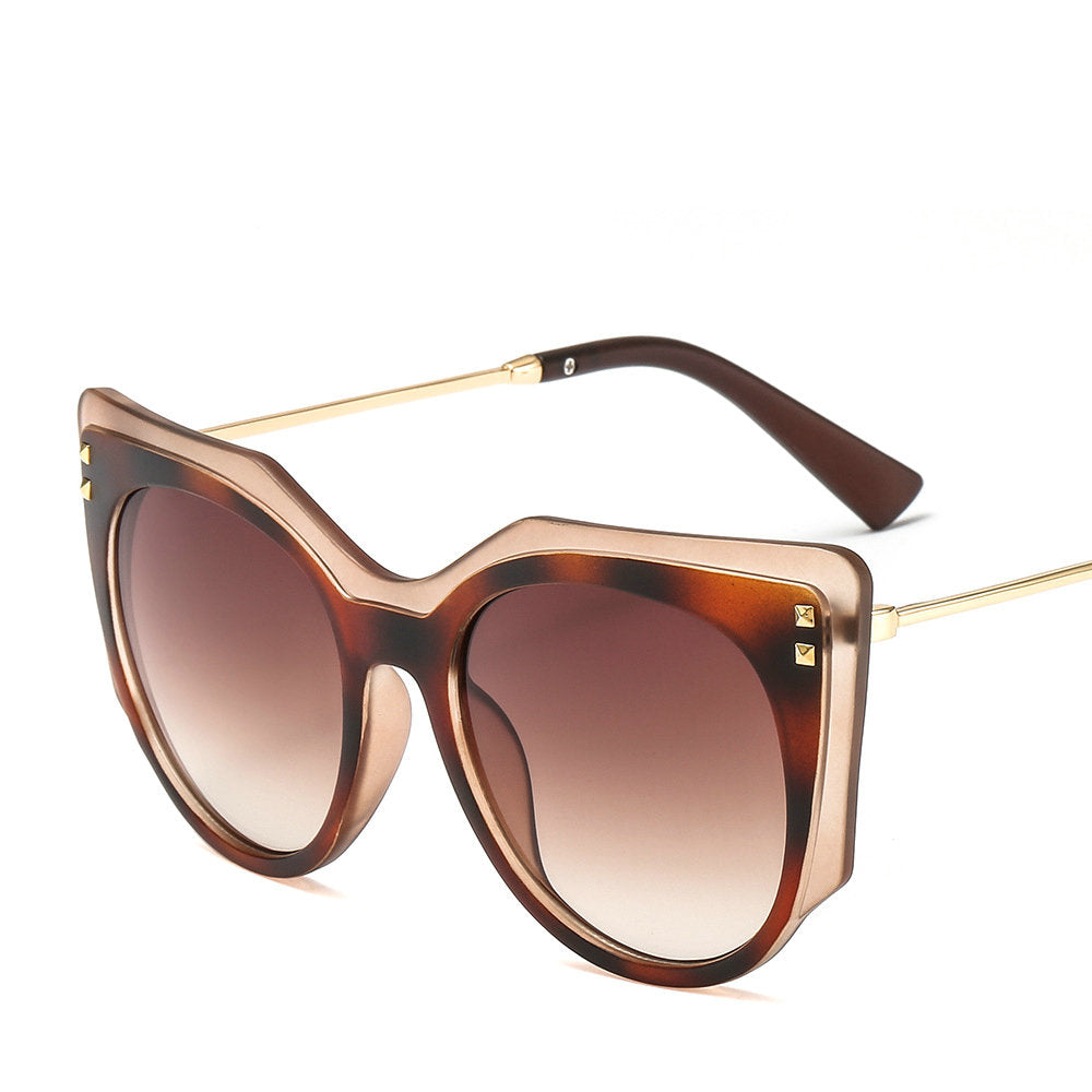 b795c734199 Design Oval Luxury Round Large Sunglasses Ladies Men Sexy Leopard Two- –  Costbuys