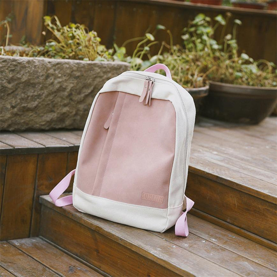 Costbuys  Backpack	women backpack Solid backpacks female Canvas Girl Casual Mini Backpacks Zipper Patchwork Travel School Bag Ap