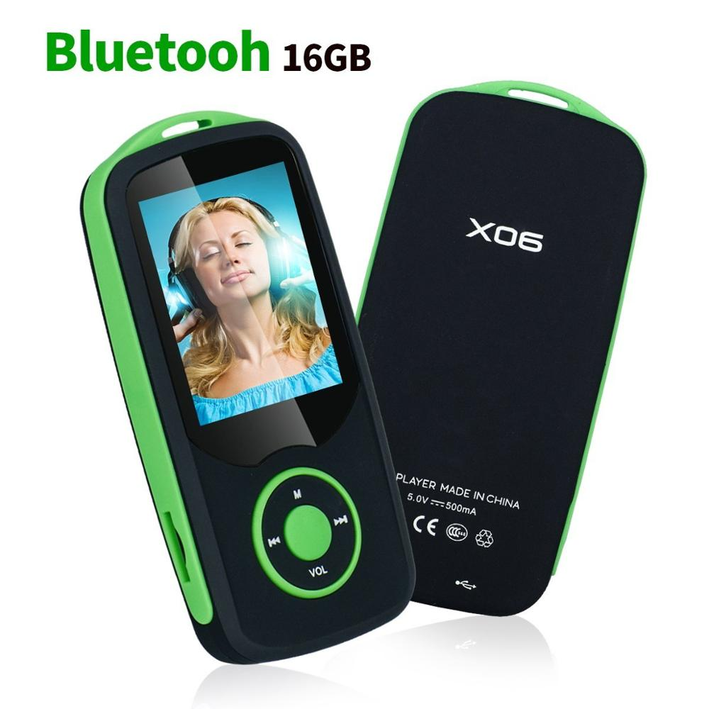 Costbuys  MP3 Player with Bluetooth 16GB Support up to 64GB, Portable Digital Music/Video/Voice record/FM Radio/E-Book Reader pl