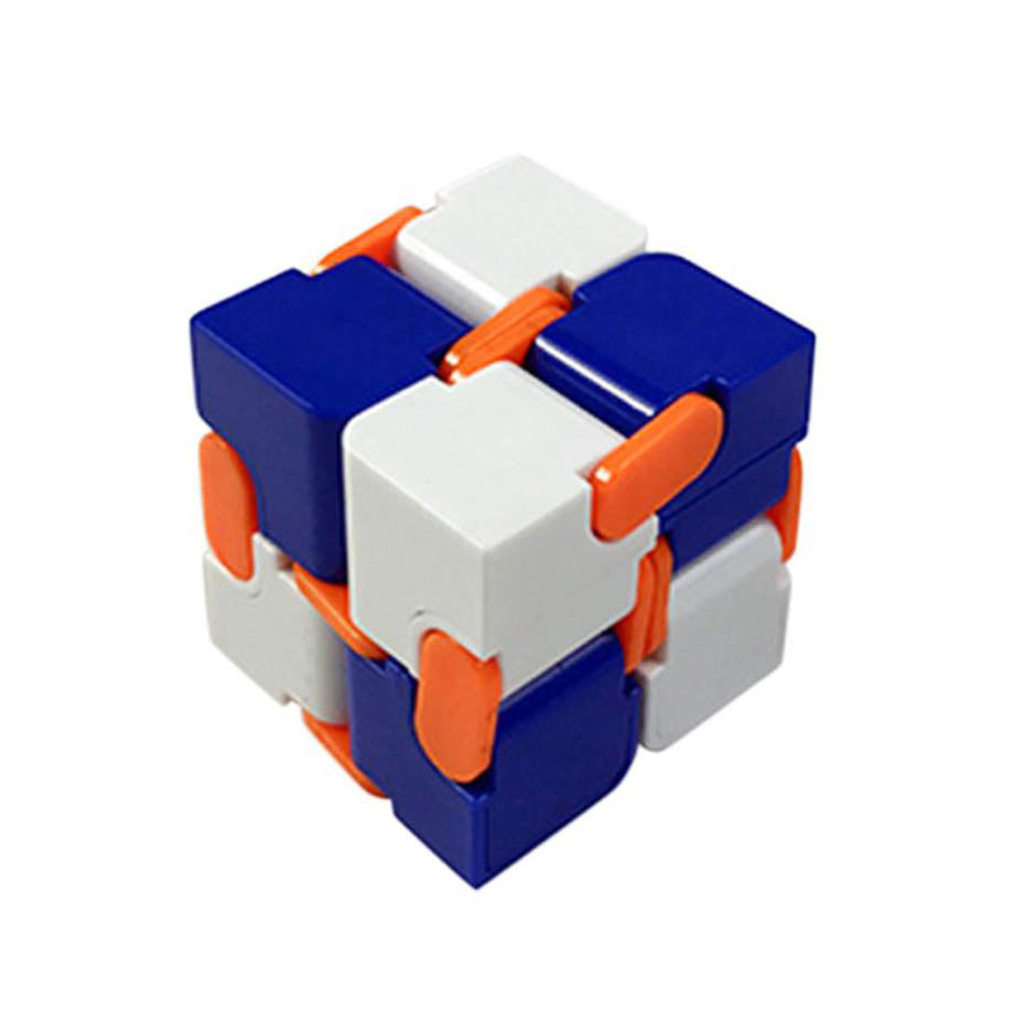 Costbuys  Infinity Cube Mini For Stress Relief Fidget Anti Anxiety Stress Funny Relief Toys for adults - Blue / China