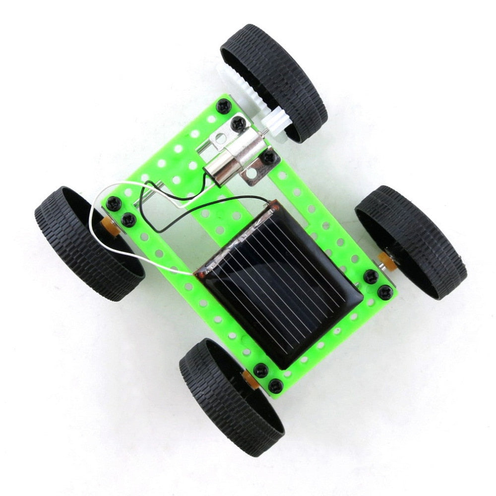 Costbuys  Mini Solar Powered Toy DIY Car Kit Children Educational Gadget Hobby Funny Children Boys Solar Car Toys - Smallest B
