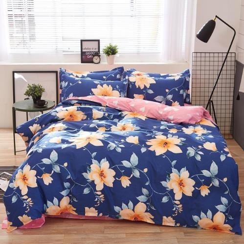 Costbuys  Home Textile Autumn Modern Flower Series Bed Linens 4pcs Cheap Bedding Sets Bed Set Duvet Cover Bed Sheet Mans Cover S