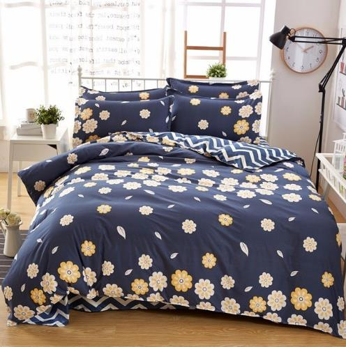 Costbuys  Home Textile Autumn Pastoral Flower  Series Bed Linens 4pcs Cheap Bedding Sets Bed Set Duvet Cover Bed Sheet Mans Cove