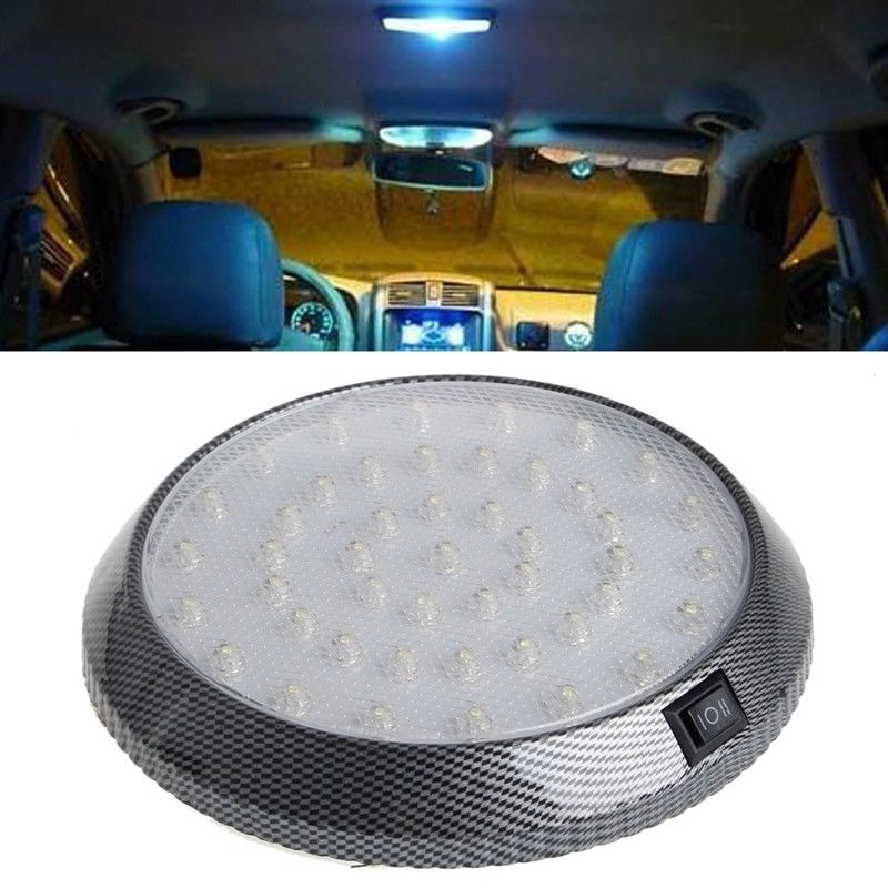 Costbuys  46 LED 12V Automobiles Car Dome Roof Ceiling Interior Light Bulb Reading Lamp White Round Style Car Accessories